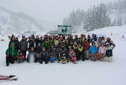 愛の輪 障害者スキー研修のボランティア