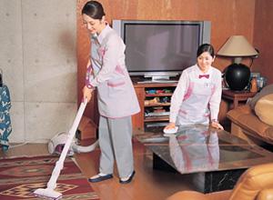 定期的にお伺いし、お掃除や家事をお客様に代わって行います